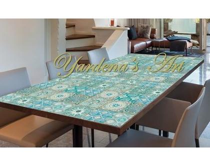 מפת שולחן PVC מעוצבת - דגם HODAYA | מפת שולחן עיצוב בהתאמה אישית
