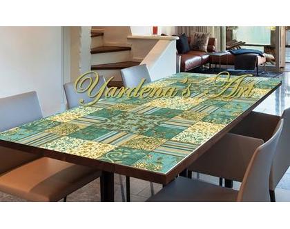 מפת שולחן PVC מעוצבת - דגם HADAR | מפת שולחן עיצוב בהתאמה אישית