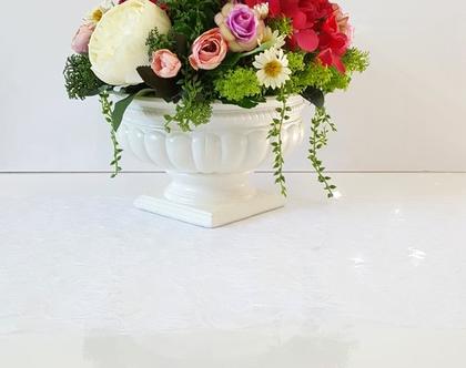 סידור פרחים מלאכותי יוקרתי