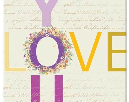 אהבה - תמונת אווירה על קנבס