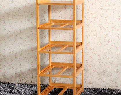 ארונית אחסון לבית ולמטבח עשויה במבוק המשלבת 5 תאים גדולים נשלפים, מבית HomeTown