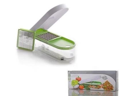 מכשיר ידני לקיצוץ ירקות לקוביות שוות בגודלן להכנת סלט ירקות תוך דקות ספורות