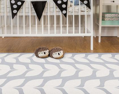 """שטיח PVC עבה במיוחד לילדים דגם- """"יסמין אפור"""""""