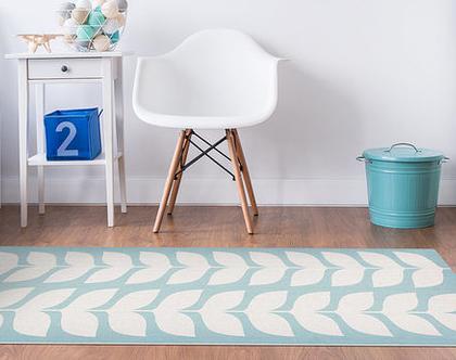 """שטיח PVC עבה במיוחד לילדים דגם- """"יסמין תכלת"""""""