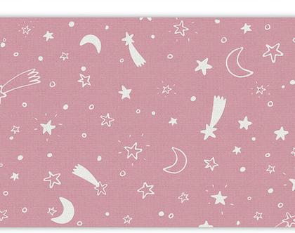 """שטיח PVC עבה במיוחד לילדים דגם- """"כוכבים - ורוד"""""""