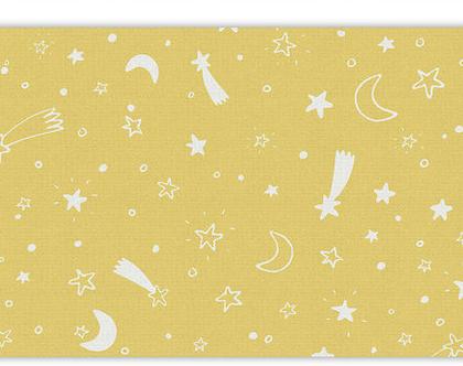 """שטיח PVC עבה במיוחד לילדים דגם- """"כוכבים - צהוב"""""""