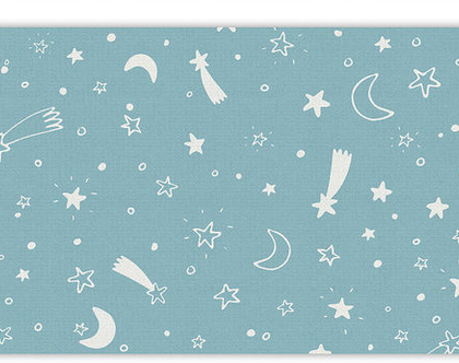 """שטיח PVC עבה במיוחד לילדים דגם- """"כוכבים - תכלת"""""""