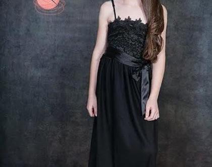 שמלת הפרח השחור לבת מצווה