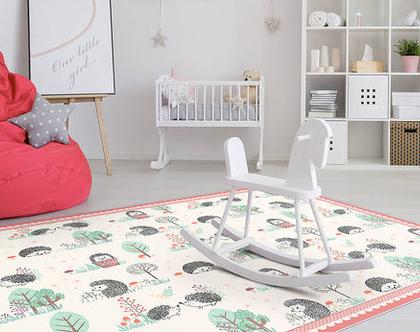 """שטיח PVC עבה במיוחד לילדים דגם- """"קיפודים ורוד"""""""