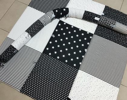 משלוח מתנה - מארז לידה ❤ משטח פעילות כוכבים שחור לבן מפנק לכל המשפחה ❤ נחשוש מעוצב שחור לבן ❤ מתנה ליולדת ❤ עבודת יד ❤