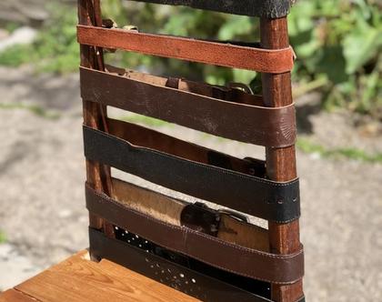 כיסא חגורות עור -נמכר