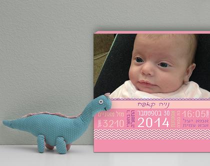 תעודת לידה מעוצבת |תעודת זהות מעוצבת | מתנה ליולדת | תעודת לידה בעיצוב אישי| תעודת לידה עם תמונה