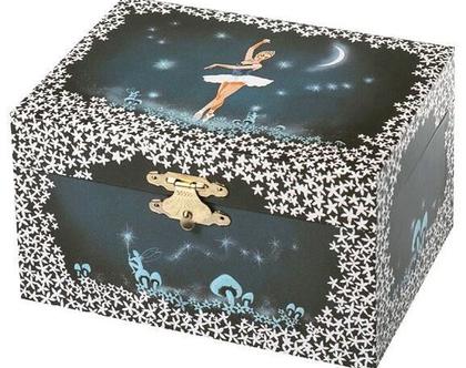 קופסת תכשיטים בלרינה כחולה