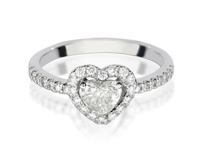 טבעת אירוסין לב HILA