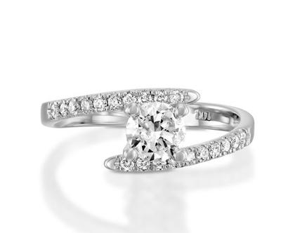 טבעת אירוסין טוויסט EDELMIRA