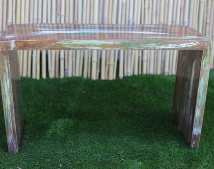 ספסל מעוצב ומיוחד מעץ מלא ( ממוחזר ), ספסל מעוצב, ספסל לגינה, ספסל נוי, ספסלים מץ, ספסלי עץ