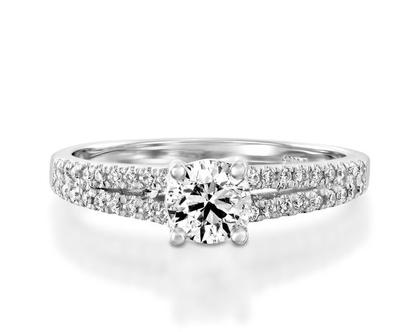 טבעת אירוסין מתפצלת TOMASA