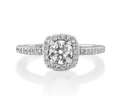 טבעת אירוסין הילה יוקרתית CARMEL