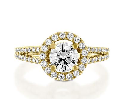 טבעת אירוסין עם הילה NEDIVA