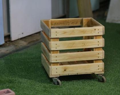 ארגז עץ מרובע לאחסון צעצועים, פתרונות אחסון, חדרי ילדים, אחסון לבית