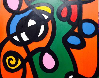 ציור #1 - 90x90- היצירה בזוג