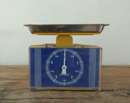 משקל וינטאג', משקל וינטג', משקל מטבח, משקל צהוב, משקל ישן