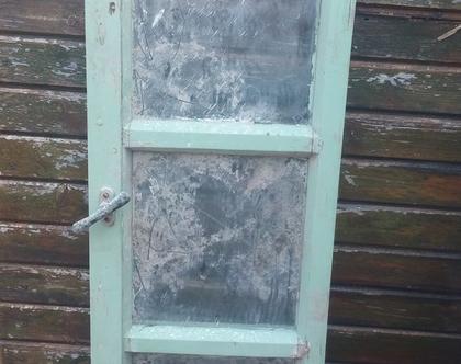 חלון ישן, חלון וינטאג', חלון זכוכית, חלון עץ וזכוכית, חלון מפעם, פריט עיצובי