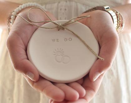 מתנת אירוסין   מתנה לכלה   צלוחית לטבעות נישואין   צלוחית לטבעות חתונה WE DO   מתנה למסיבת רווקות