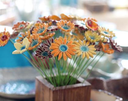 פרחים לאירוע | סידור פרחים | זר פרחים | פרחי קרמיקה | עיצוב אירועים | פרחים מקרמיקה | פרחים לשולחן | פרחים צבעוניים | מתנה לחג