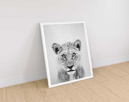 אריה | תמונות מודרניות לבית | עיצוב לחדר ילדים | פוסטר לחדר ילדים | חדרי תינוקות | עיצוב הבית | תמונות למסגור | שחור לבן | סט פוסטרים