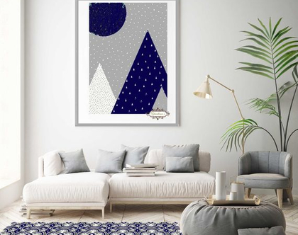שטיח פי.וי.סי מעוצב דגם Blue & gray tiles