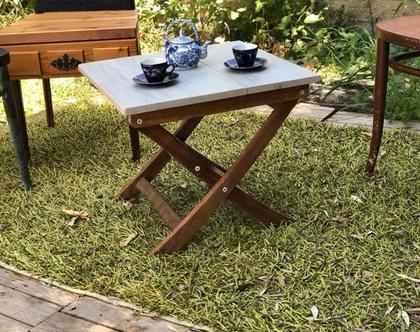 שולחן קפה /גינה/מרפסת מעץ מלא