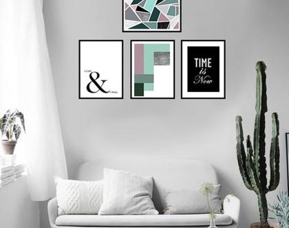 סט 4 הדפסות - צבע, זמן וחלום