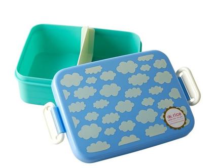 לאנץ' בוקס עם חלוקה | עננים כחול | קופסת אוכל לילדים |BXLUN-CLOUDB