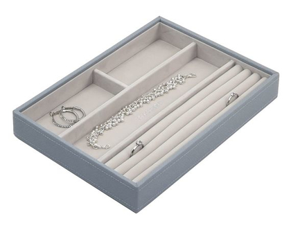 מגש מחולק, תוספת לקופסת התכשיטים המודולרית גודל קלאסיק - צבע כחול עשן