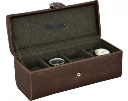 קופסא לשעונים, - חום חאקי סדרת אוקספורד