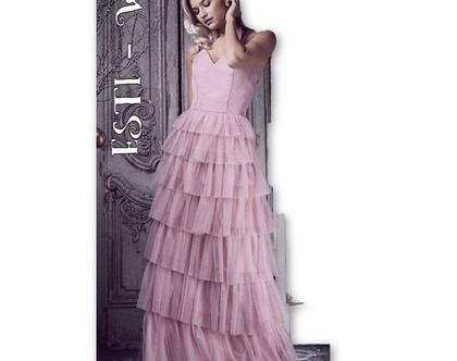 שמלת אירועים נשף ערב מקסי