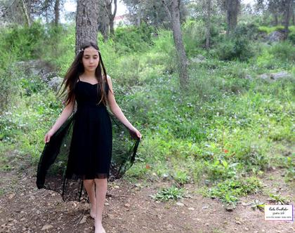 שמלת בת מצווה מעוף בשחור
