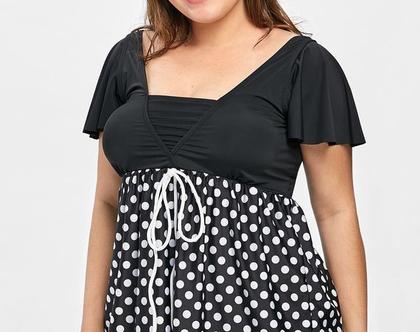 בגדי ים להריון בגד ים שמלה מידות גדולות סקסי - 46 48 50 52 54