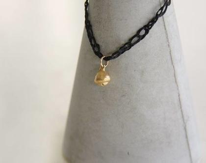 תליון פרי אקליפטוס מצופה זהב עם שרשרת בצבעים לבחירה
