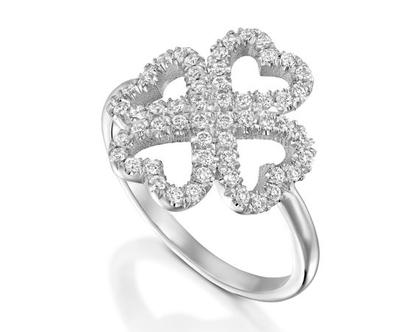 טבעת יהלומים לבבות HARMON , טבעת יהלומים לב, טבעת יהלומים, טבעת מיוחדת, טבעת יהלומים לאישה, טבעת מתנה לאישה, טבעת זהב ויהלומים, טבעת זהב לבן
