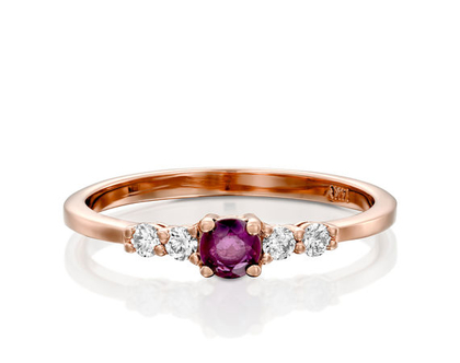טבעת יהלומים ורובי,טבעת רובי, טבעת יהלומים, טבעת מיוחדת, טבעת יהלומים לאישה, טבעת מתנה לאישה, טבעת עדינה