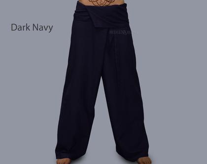 מכנסי דייגים זית - חיל הים - לבן