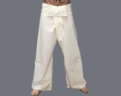 מכנסי דייגים איכותיית - צבע קרם, לבן