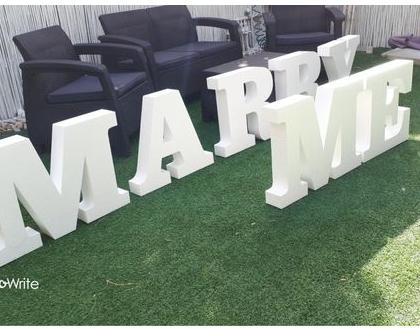 MARRY ME | הצעת נישואין | התנשאי לי | אותיות קלקר לפרחים ובלונים