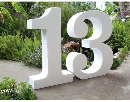 """13 - ספרות קלקר גובה 100 ס""""מ לעיצוב פרחים"""