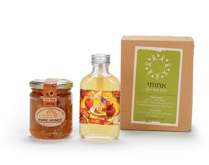 דבש וליקר פירות מארז מתנה מתוק בקטנה