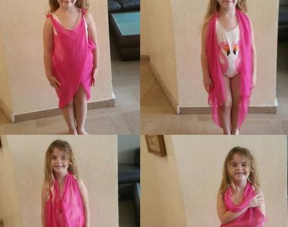 פראו לחוף לבנות | כיסוי לבגד ים | שמלת חוף | לונג לחוף | כיסוי בגד ים | בגד ים לילדים | שמלה לבנות | בגד ים לבנות | שמלת חוף | ביקיני לילדות