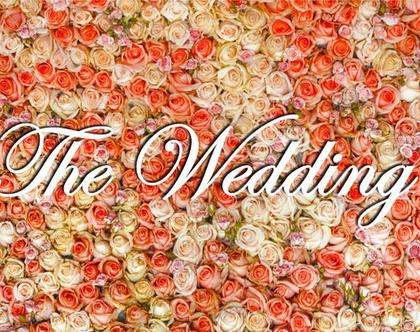 The Wedding לתלייה לעיצוב קיר פרחים | שלט למסיבה או לאירוע | עיצוב אירוע | עיצוב מסיבה | שלטים ומוצרי אווירה לעיצוב אירועים | קיר פרחים