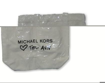 תיק כתף MICHAEL KORS מייקל קורס כותנה LOVE תל אביב מהדורה מוגבלת
